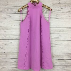 a3517375b788 Ted Baker London Dresses - Ted Baker torrii choker scallop shift dress pink